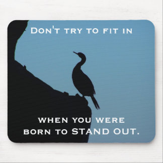 Stand Out Cormorant Mouse Mat