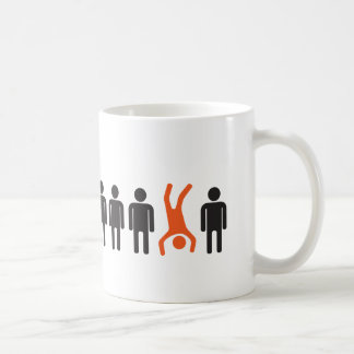 stand out from crowd head over heels coffee mug