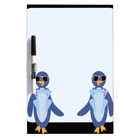 Stand Out Penguin Dry Erase Board