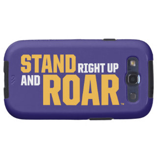 Stand Right Up And Roar Logo Galaxy SIII Case