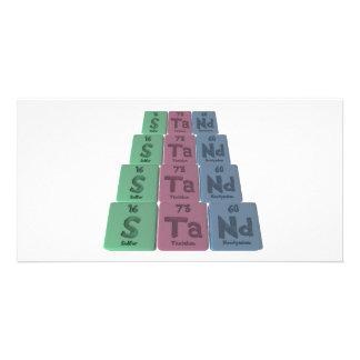 Stand-S-Ta-Nd-Sulfur-Tantalum-Neodymium.png Photo Greeting Card