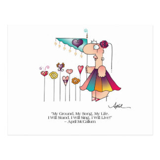 STAND, SING, LIVE! Postcard by April McCallum