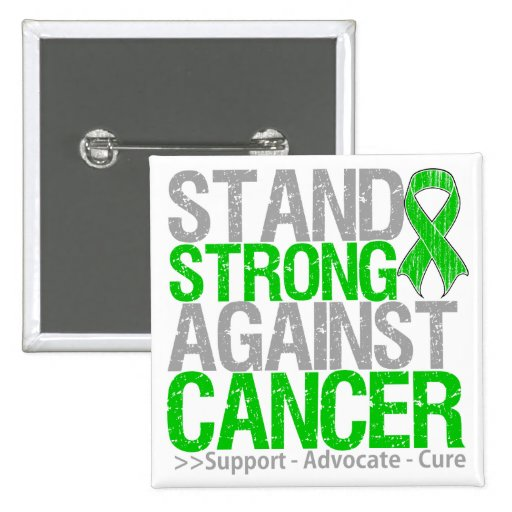 Stand Strong Against Bile Duct Cancer 2 Inch Square Button