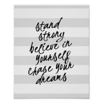 Stand Strong, Be Yourself Motivational Quote Print