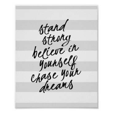 kat_parrella Stand Strong, Be Yourself Motivational Quote Print