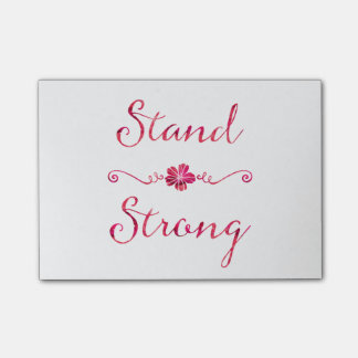 Stand Strong Inspirational Strength Pink Quote Post-it® Notes