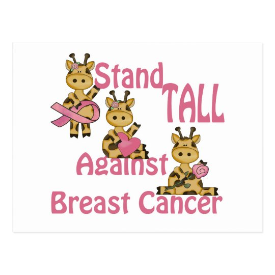 stand tall against breast cancer postcard