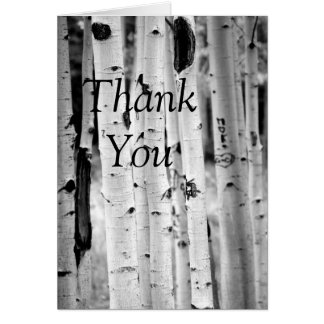 Stand tall Aspen's thank you card