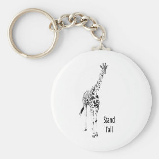 Stand Tall Basic Round Button Keychain