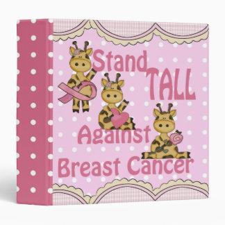 stand tall breast cancer giraffe notebook binder