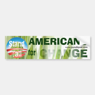 Stand Tall for Change - Customized Car Bumper Sticker