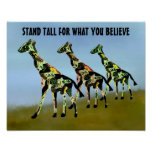 Stand Tall For What You Believe Motivation Poster