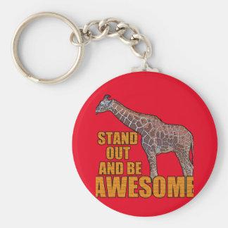Stand Tall Giraffe 2 Keychain