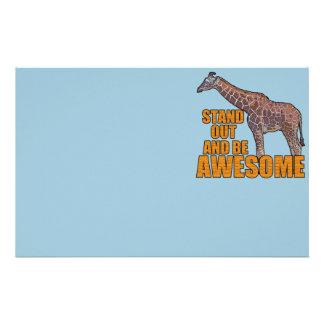 Stand Tall Giraffe 2 Stationery