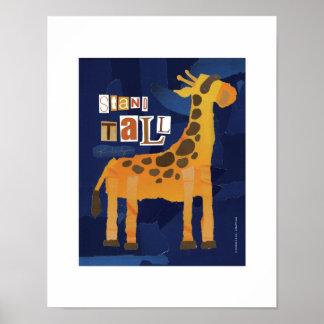 Stand Tall Giraffe Print