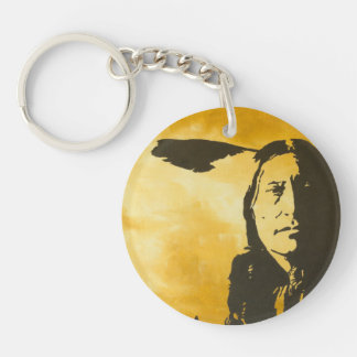 """""""Stand Tall"""" Double-Sided Round Acrylic Keychain"""