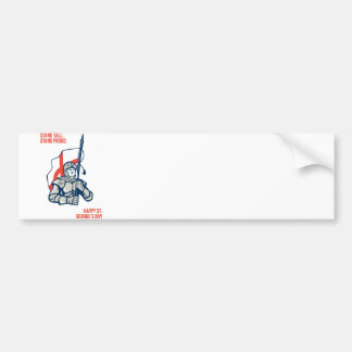 Stand Tall Proud English Happy St George Greeting Bumper Sticker