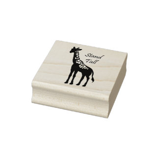 Stand Tall Rubber Stamp