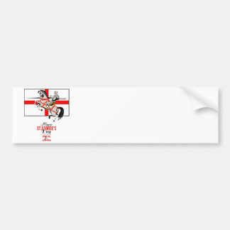 Stand Tall Stand Proud Happy St George Day Retro P Bumper Sticker