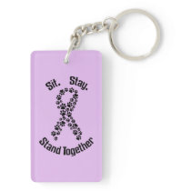 Stand Together Canine Cancer Keychain