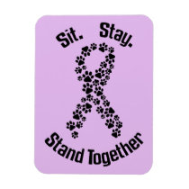 Stand Together Canine Cancer Magnet