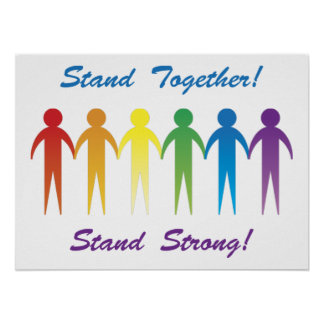 Stand Together Gay Pride Posters and Prints