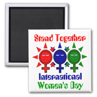 Stand Together International Women's 2 Inch Square Magnet