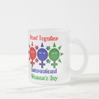 Stand Together International Women's Day 10 Oz Frosted Glass Coffee Mug