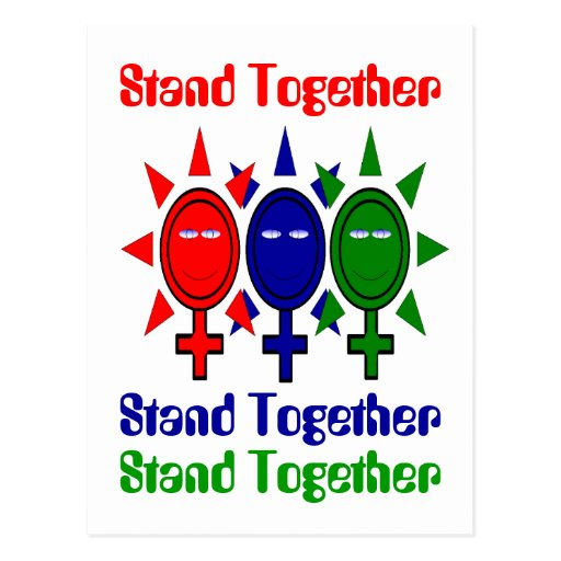 Stand Together International Women's Day Post Card