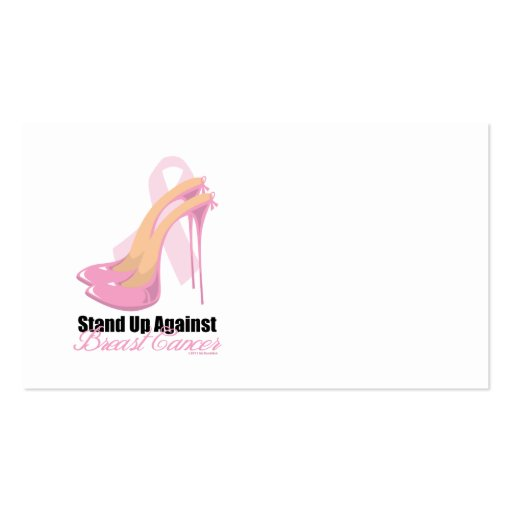 Stand Up Against Breast Cancer Double-Sided Standard Business Cards (Pack Of 100)