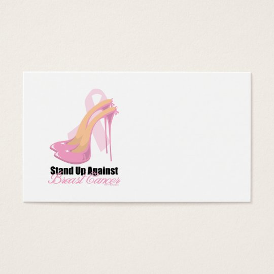 Stand Up Against Breast Cancer Business Card