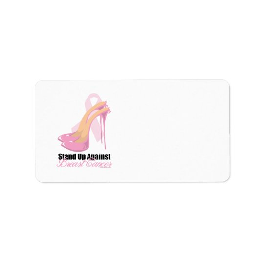 Stand Up Against Breast Cancer Label