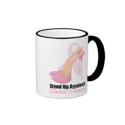Stand Up Against Breast Cancer Ringer Mug