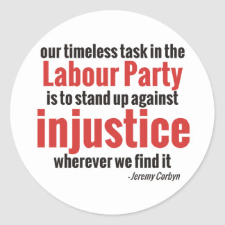 Stand up Against Injustice Classic Round Sticker