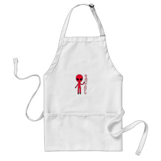 Stand up And fly Funny Alien Adult Apron