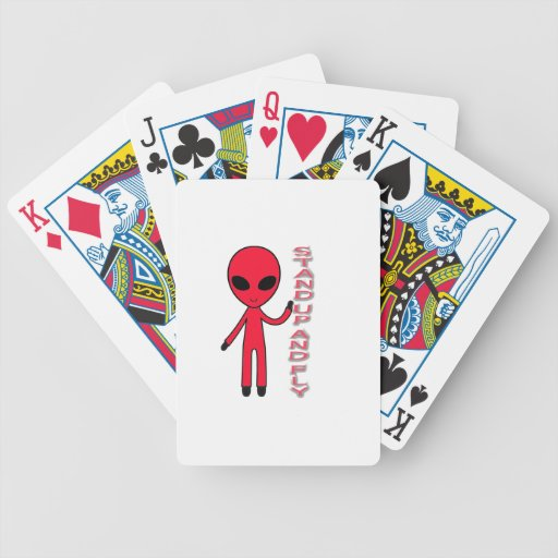 Stand up And fly Funny Alien Poker Cards
