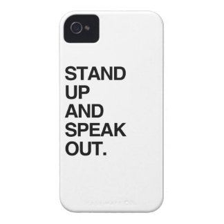 STAND UP AND SPEAK OUT iPhone 4 COVERS