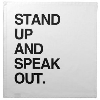 STAND UP AND SPEAK OUT CLOTH NAPKIN