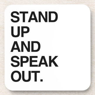 STAND UP AND SPEAK OUT COASTERS
