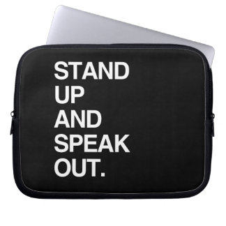 STAND UP AND SPEAK OUT COMPUTER SLEEVE
