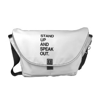 STAND UP AND SPEAK OUT COURIER BAG