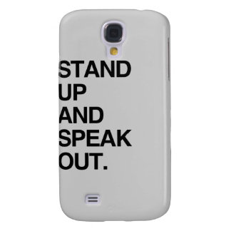 STAND UP AND SPEAK OUT GALAXY S4 COVER