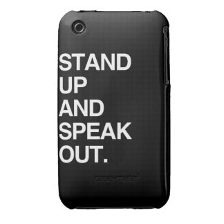 STAND UP AND SPEAK OUT iPhone 3 COVER