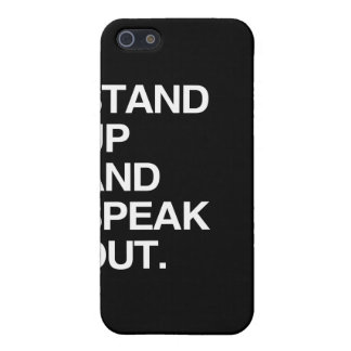 STAND UP AND SPEAK OUT iPhone 5 COVER