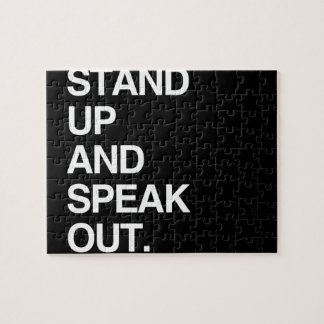 STAND UP AND SPEAK OUT JIGSAW PUZZLES