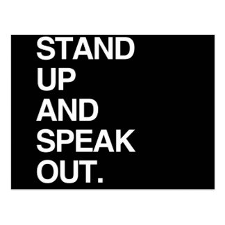STAND UP AND SPEAK OUT POSTCARD