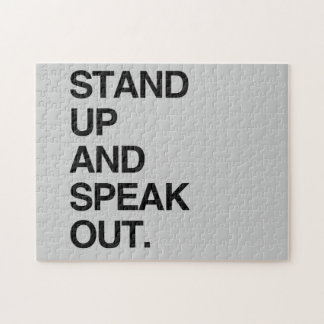 STAND UP AND SPEAK OUT PUZZLE