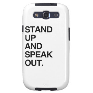 STAND UP AND SPEAK OUT SAMSUNG GALAXY SIII CASES