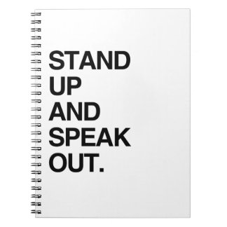 STAND UP AND SPEAK OUT SPIRAL NOTE BOOK