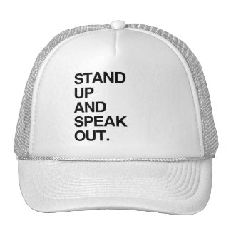 STAND UP AND SPEAK OUT TRUCKER HAT